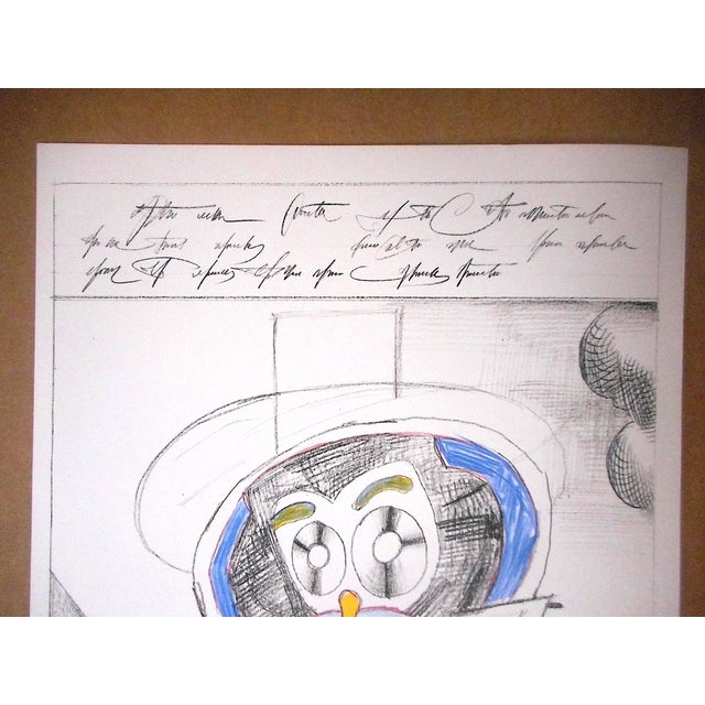 Modern Vintage Mid 20th C. Ltd. Ed Lithograph From Derriere Le Miroir No.205-Saul Steinberg-1973 For Sale - Image 3 of 5