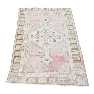 Pastel Handmade Turkish Anatolian Rug-2′7″ × 4′7″ For Sale