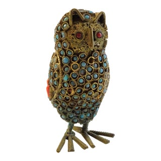 Vintage Owl Figurine From Nepal