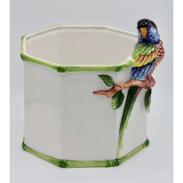 Ceramic 1960s Large Italian Ceramic Parrot Planter For Sale - Image 7 of 13