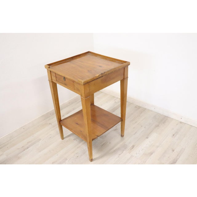 18th Century Italian Louis XVI Cherry Wood Side Table For Sale - Image 9 of 13