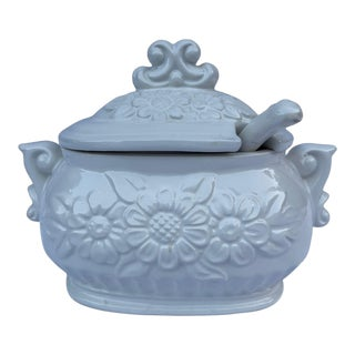 Vintage Himark Daisy Pattern Tureen With Lid & Spoon- 2 Pieces For Sale