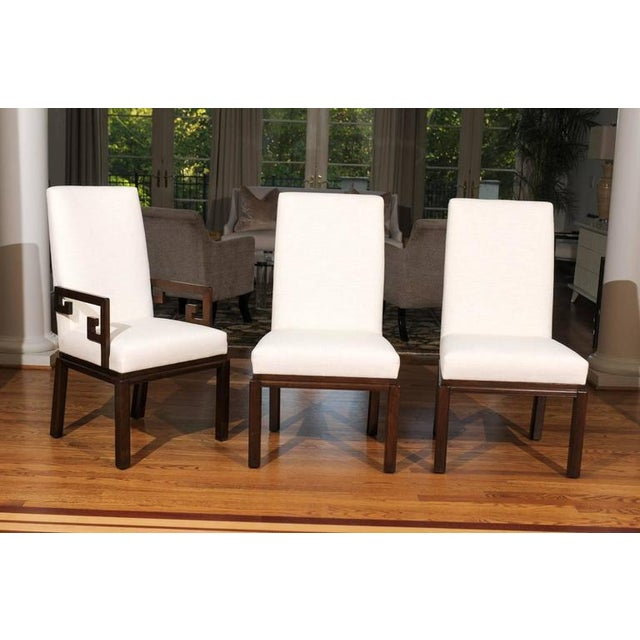 Modern Rare Restored Set of Six Parsons Style Dining Chairs by Baker For Sale - Image 3 of 11