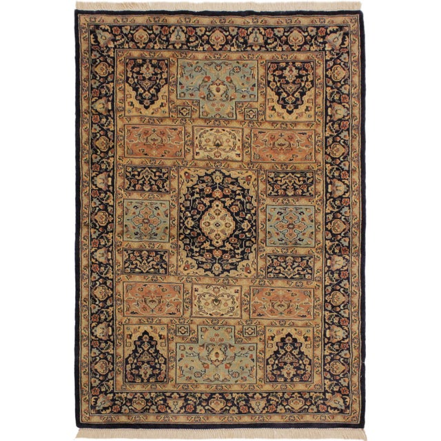 Beige 1980s Vintage Bokhara Wanetta Wool Rug - 4′2″ × 6′10″ For Sale - Image 8 of 8