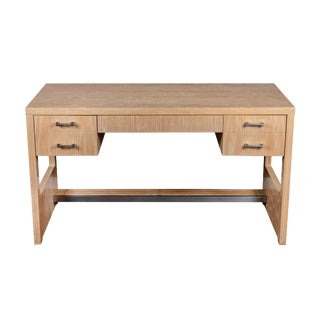 Cerused Oak Desk by Jay Spectre, 1970s For Sale