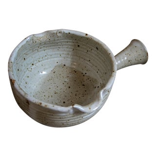 Ken Ferguson Studio Pottery Mixing Bowl With Handle For Sale