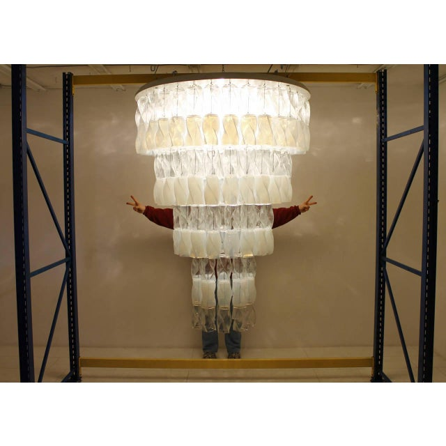 Huge Murano Chandelier by Roberto Pamio & Renato Toso for Leucos, Italy, 1970 For Sale - Image 9 of 10