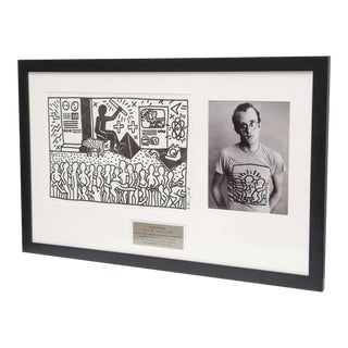 Keith Haring Serigraph, New York 1982 For Sale