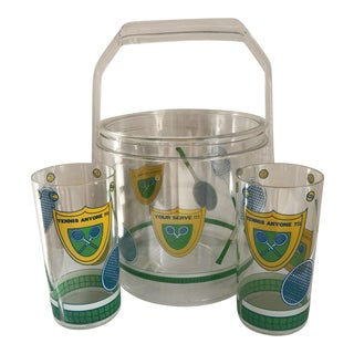 Acrylic Tennis Barware Set For Sale