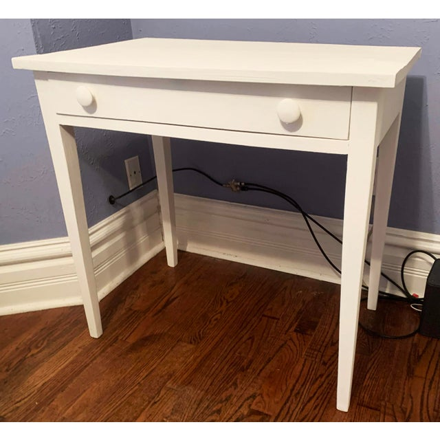 1960s Boho Chic Desk Painted in White Chalk Paint For Sale - Image 13 of 13