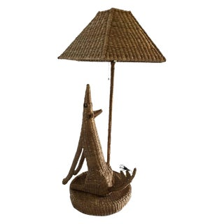 Mario Lopez Torres Coyote Table Lamp & Shade For Sale