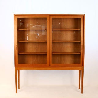Vintage Danish Oak & Glass Cabinet Preview