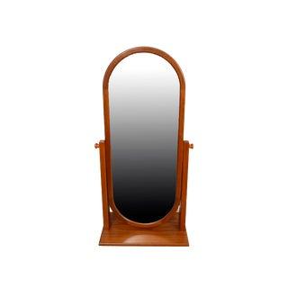 Pedersen & Hansen Danish Modern Teak Mirror Cheval Mirror Oval Mirror For Sale