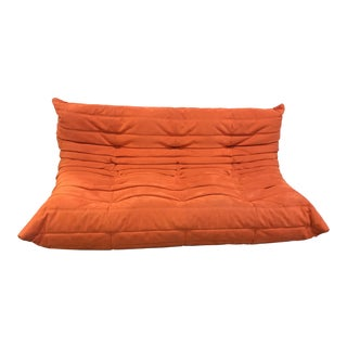 Ligne Roset 1974 Orange Microfibre Sofa