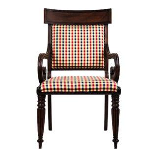 Biedermeier Sleigh Style Armchair For Sale