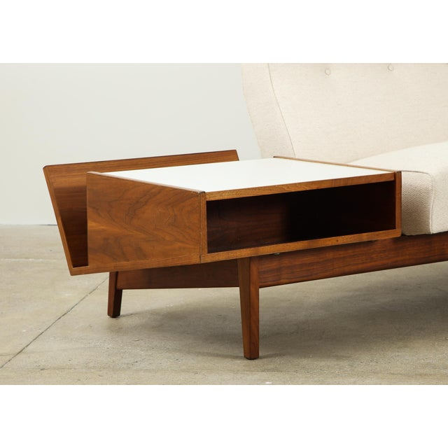 Walnut Jens Risom Sofa With Magazine Table For Sale - Image 7 of 13