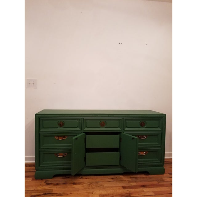 Green Campaign Style Dresser - Image 5 of 6