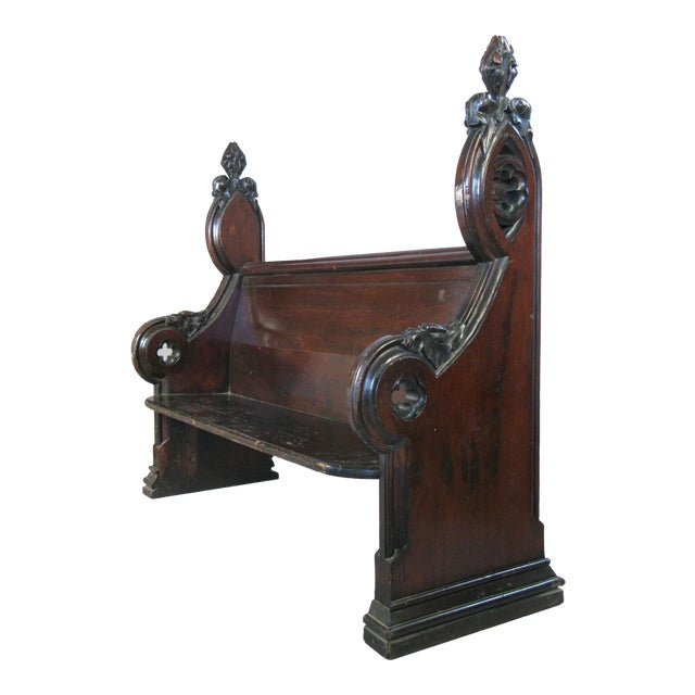 Antique Gothic Hall Bench For Sale