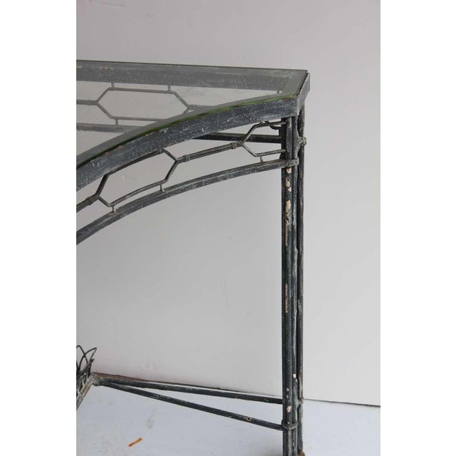 20th Century Metal Demi-Lune Table For Sale - Image 4 of 5