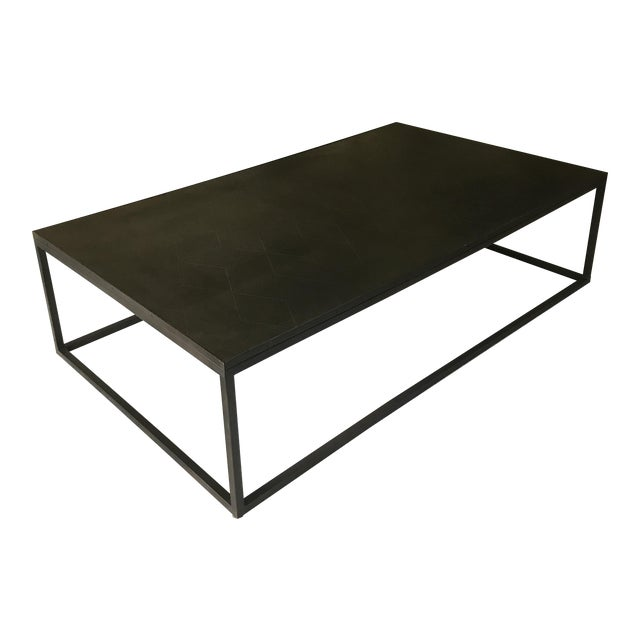 Restoration Hardware Metal Parquet Coffee Table - Image 1 of 5