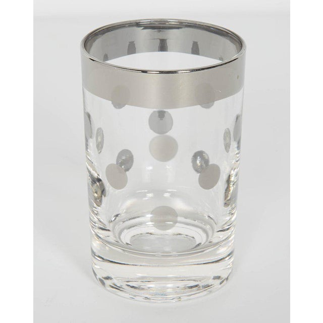 Dorothy Thorpe Set of Six Vintage Silvered Liqueur Barware Glasses Designed by Dorothy Thorpe For Sale - Image 4 of 5