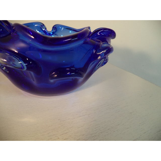 Murano Glass Sapphire & Clear Bowl - Image 5 of 6
