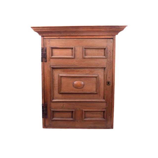 Large Arts and Crafts Rustic Farmhouse Wood Hanging Wall Cabinet Rustic Wall Cupboard For Sale