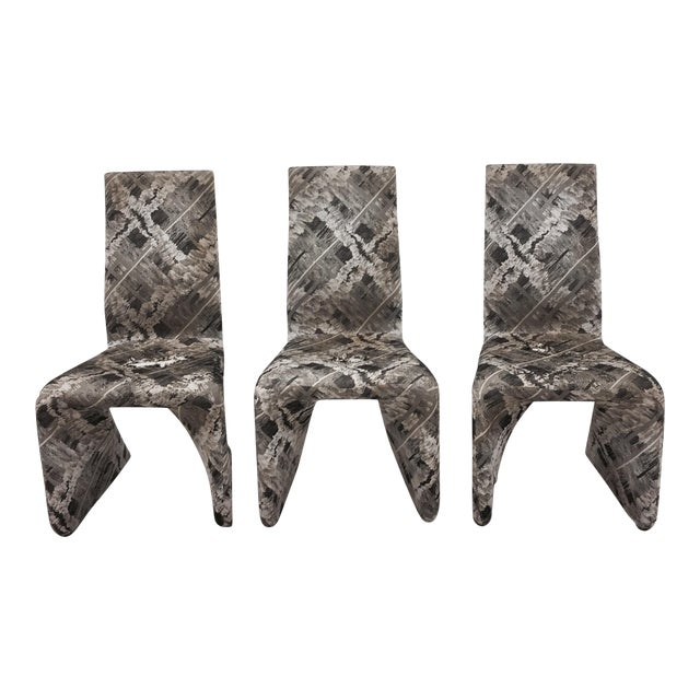 Futuristic Gray Swan Chairs - Set of 3 - Image 1 of 9