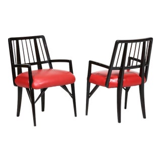 Set of Four Custom Designed Dining Chairs by Paul Laszlo For Sale