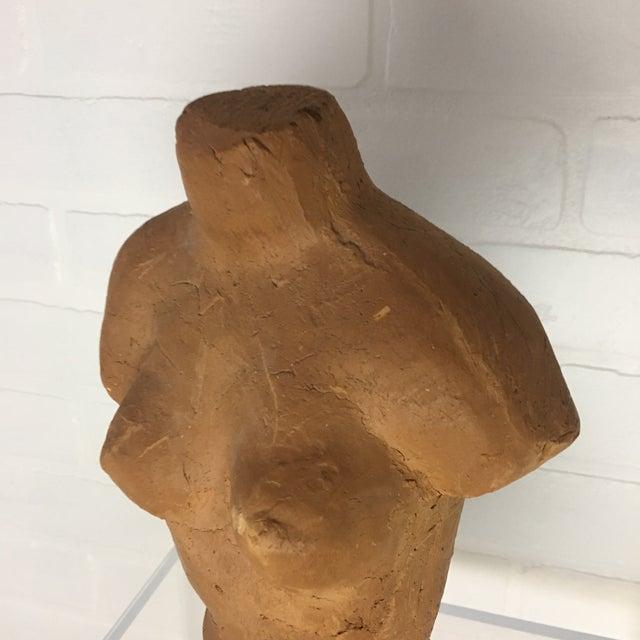 Figurative Mid-Century Terra Cotta Female Torso For Sale - Image 3 of 8