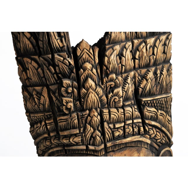 Southeast Asian Carving of Goddess For Sale - Image 9 of 13