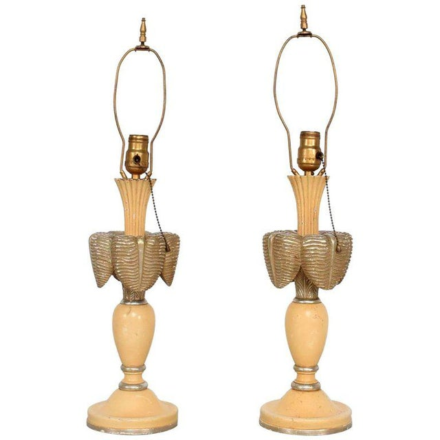 Neoclassical Sculptural Table Lamps, Circa 1940s For Sale - Image 12 of 12
