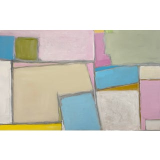 """""""A Hop, Skip, and a Jump"""" Contemporary Abstract Acrylic Painting by Sarah Trundle For Sale"""