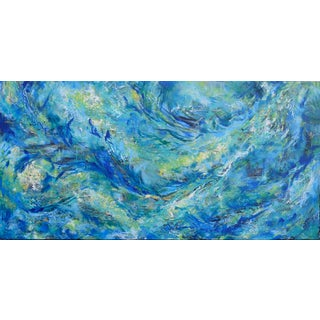 "Original Jennifer Hayes Abstract Painting ""Sea Shore"" For Sale"