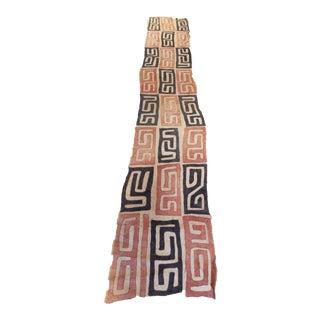 African Kuba Textile Raffia Wall Hanging For Sale