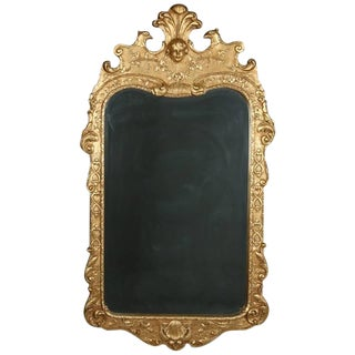 French Louis XIV Style Figural Giltwood Henredon Natchez Wall Mirror For Sale