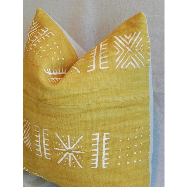 Handwoven Gold & Cream Tribal Down & Feather Pillow - Image 5 of 6