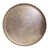 Image of 1940s Art Deco Federal Silver Co. Round Aluminum Tray For Sale
