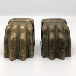 Vintage Brass Lion Claw Feet Bookends - a Pair Preview
