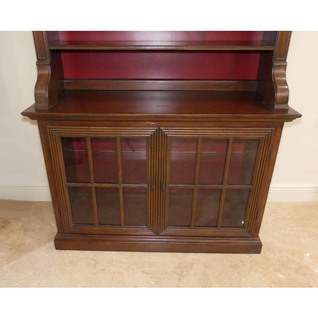 2000 - 2009 Hekman Display Cabinet Bookcase Hutch For Sale - Image 5 of 13