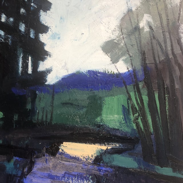 """""""Twilight at the Edge of the Forest"""" Painting For Sale - Image 9 of 13"""