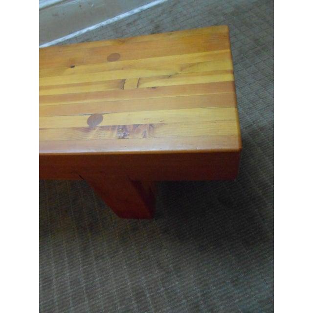 Midcentury Studio Butcher Block Coffee Table - Image 10 of 10