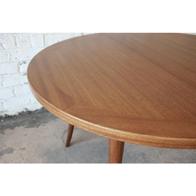Harvey Probber Mid-Century Modern Mahogany Saber Leg Extension Dining Table For Sale - Image 10 of 12