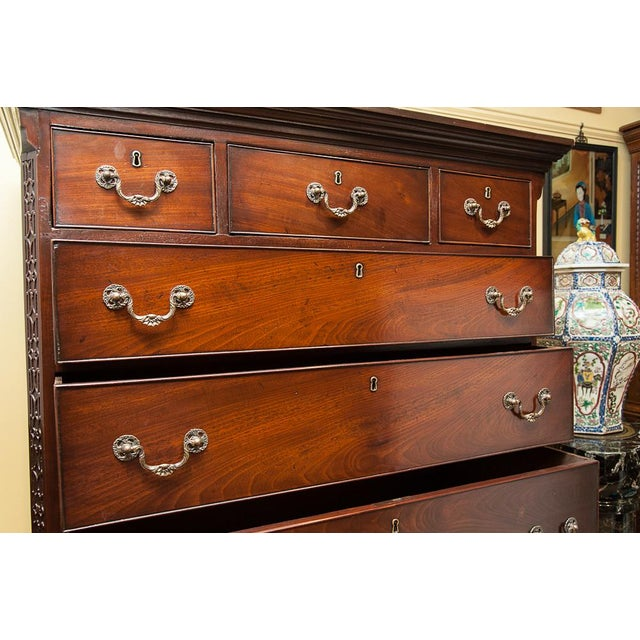 19th Century Chest on Chest in Mahogany For Sale - Image 4 of 8
