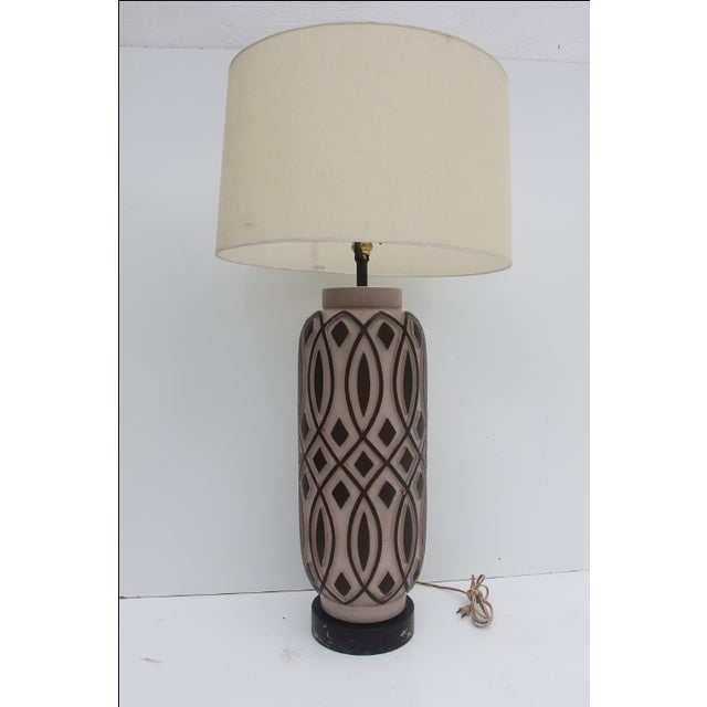 Vintage F.I.A.P. Art Pottery Table Lamp For Sale - Image 9 of 11