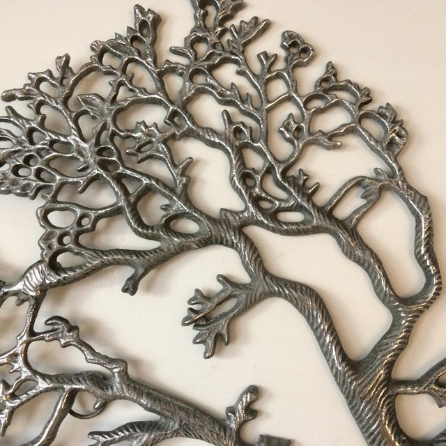 Mid-Century Industrial Aluminum Tree of Life - Image 9 of 11