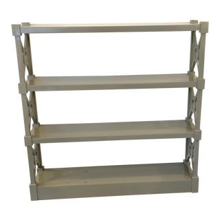 High Polish Grey Finish Etagere Shelf