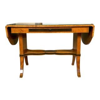 Art Nouveau Satinwood Sofa Table For Sale