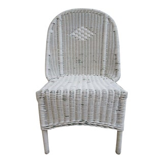 Antique Wicker Outdoor Chair For Sale