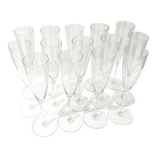 """Fourteen Baccarat Crystal Stemmed Goblets, 9 1/4"""" For Sale"""